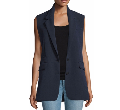 Long Two-Button Vest by Helmut Lang in The Boss