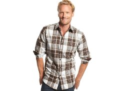 Plaid Brushed Cotton Shirt by Tasso Elba in Run All Night