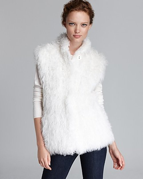 Lamb Fur Vest by Maximilian in Top Five