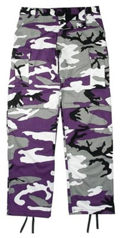 Purple Camouflage BDU Pants by Rothco in Everest