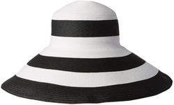 Breton Stripe Packable Toyo Straw Sun Hat by Gottex in American Horror Story