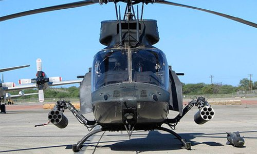 OH 58D Helicopter by Bell in Furious 7