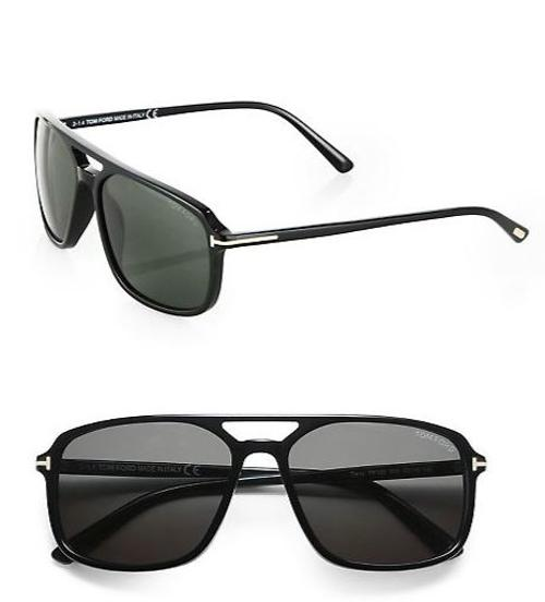 Terry 58mm Acetate Navigator Sunglasses by Tom Ford Eyewear in The Other Woman