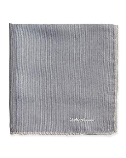 Silk-Twill Pocket Square by Salvatore Ferragamo in The Disappearance of Eleanor Rigby