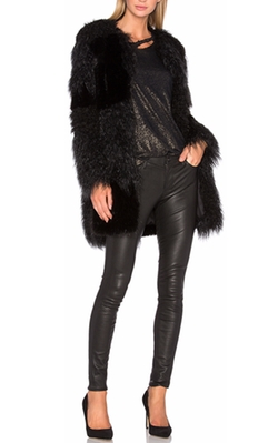 Guinevere Faux Fur Coat by RtA in Modern Family