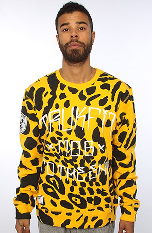 Mob To The End Leopard Print Fleece Sweater by Trukfit in Get Hard