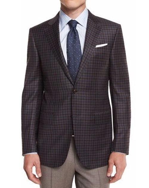 Check Wool Sport Coat by Ermenegildo Zegna in Collateral Beauty