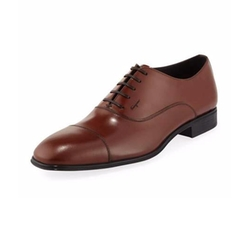 Remigio Cap-Toe Oxford Shoes by Salvatore Ferragamo in The Good Place