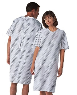 Traditional Adult Unisex Hospital Gown by BH Medwear in The Longest Ride