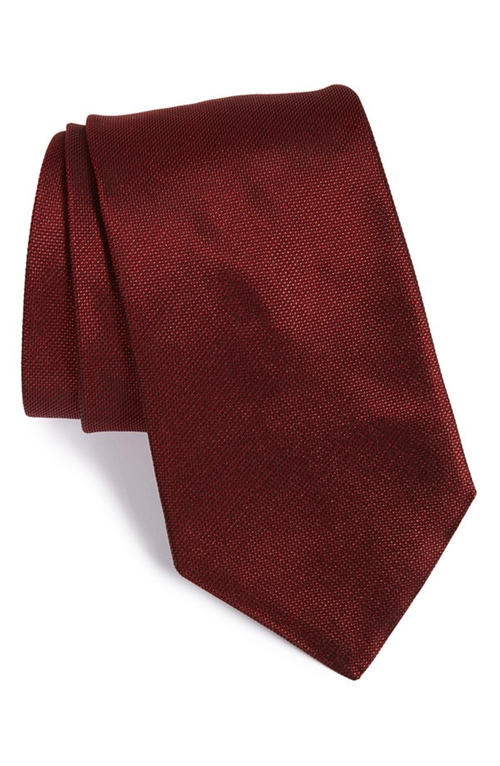 Solid Silk Tie by John Varvatos Star USA in Legend
