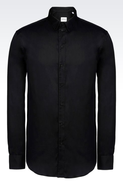 Shirt in Silk and Cotton with Covered Buttons by Giorgio Armani in Man of Tai Chi