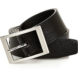 Black Square Buckle Belt by River Island in Masterminds