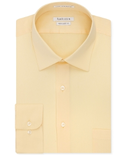 Solid Herringbone Dress Shirt by Van Heusen in Masterminds