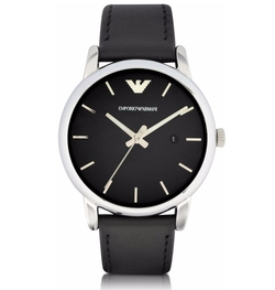 Signature Dial Leather Strap Watch by Emporio Armani in The Fate of the Furious