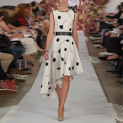 Floral Asymmetrical Dress by Oscar de la Renta in Suits
