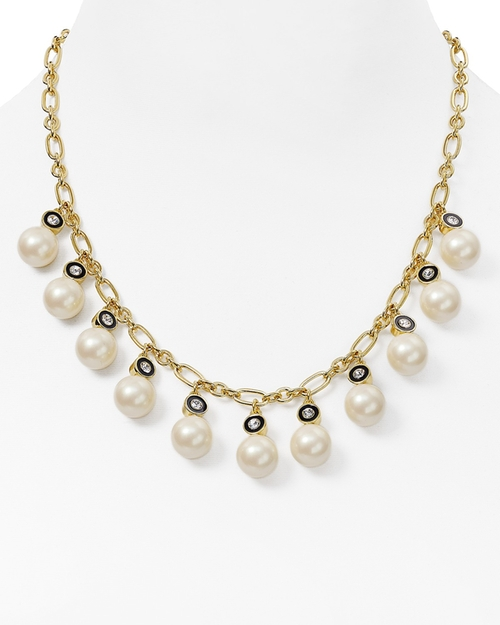 New York Faux Pearl Statement Necklace by Kate Spade in Ride Along 2