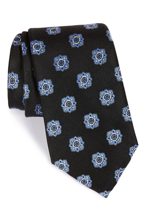 Floral Medallion Silk Tie by Nordstrom Men's Shop in Billions - Season 1 Episode 6