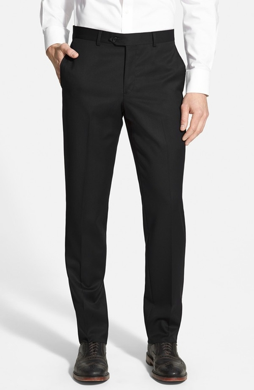 Flat Front Wool Trousers by Nordstrom in The Spy Who Loved Me