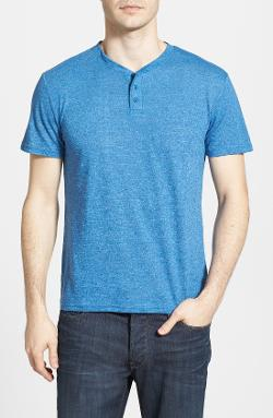 'Mock Twist' Henley T-Shirt by The Rail in What If