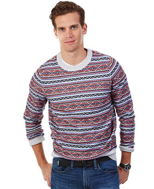 Heathered Fair Isle Sweater by Nautica in Quantico
