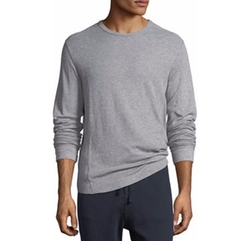 Double-Knit Long-Sleeve Crewneck T-Shirt by Vince in Power