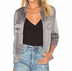 Faux-Leather Zip-Front Jacket by Armani Exchange in Quantico