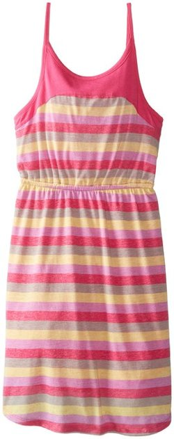 Big Girls' Melange Printed Stripe Dress by Splendid in Black or White