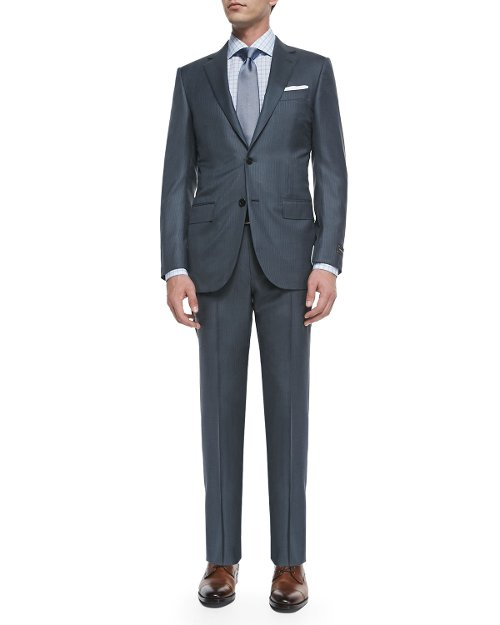 Two Piece Pindot Suit by Ermenegildo Zegna in The Counselor