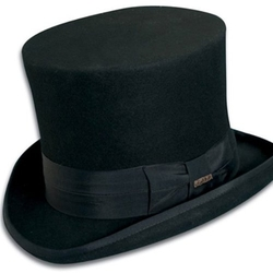 Wool Felt Top Hat by Dorfman Pacific in Crimson Peak