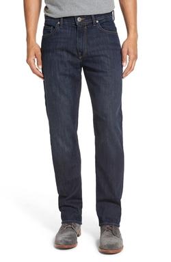 Normandie Slim Straight Blue Denim Jeans by Paige in Jason Bourne