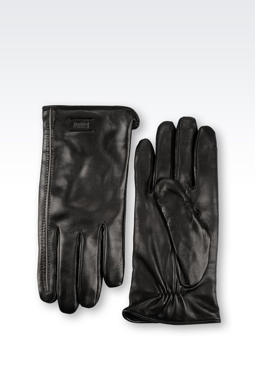 Napa Leather Glove by Armani Collezioni in Legend