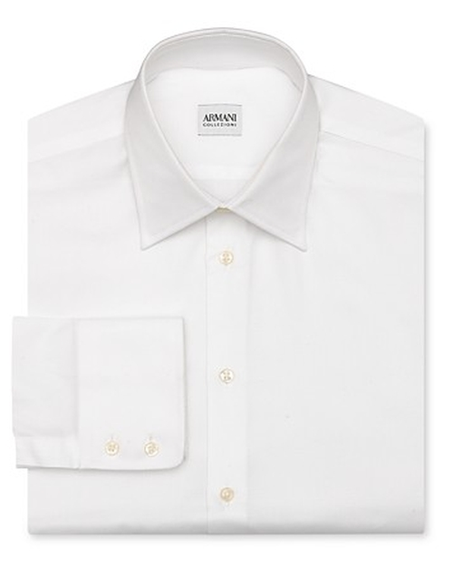 Solid Oxford Dress Shirt by Armani Collezioni in Top Five