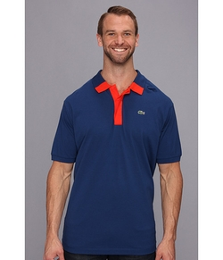 Color Block Mini Pique Polo Shirt by Lacoste in Ballers