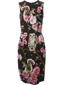 Floral Print Midi Dress by Dolce & Gabbana in Only God Forgives