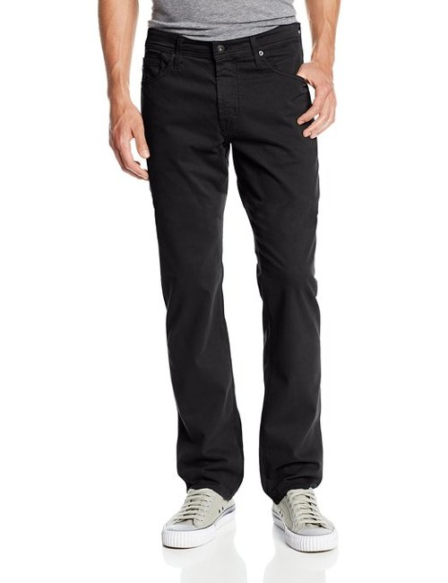 Men's The Graduate Tailored-Leg Sud Pants by AG Adriano Goldschmied in Blackhat