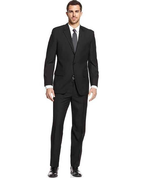 Black Solid Suit by Alfani in Million Dollar Arm
