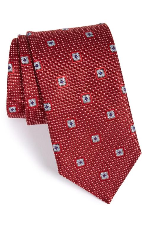 'Lambert Neat' Medallion Silk Tie by John W. Nordstrom in Black Mass