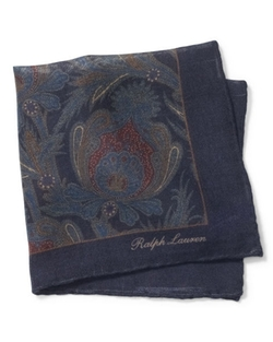 Paisley Pocket Square by Ralph Lauren in Suits