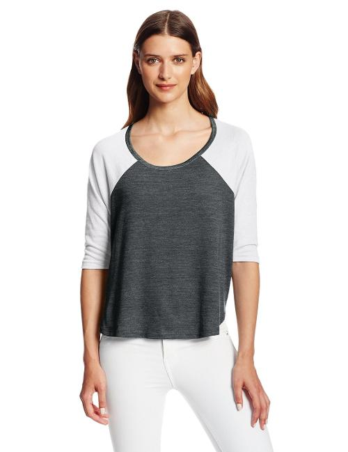 Women's Eco-Jersey Baseball Tee Shirt by Alternative in Laggies