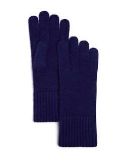 Cashmere Ribbed Gloves by C By Bloomingdale's in Love the Coopers