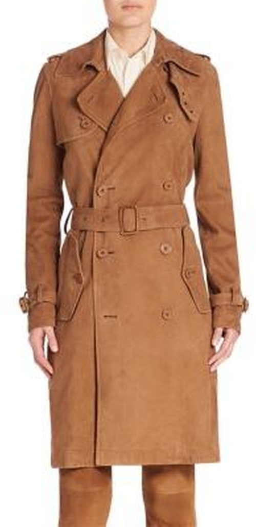Suede Trenchcoat by Polo Ralph Lauren in Power - Season 3 Preview