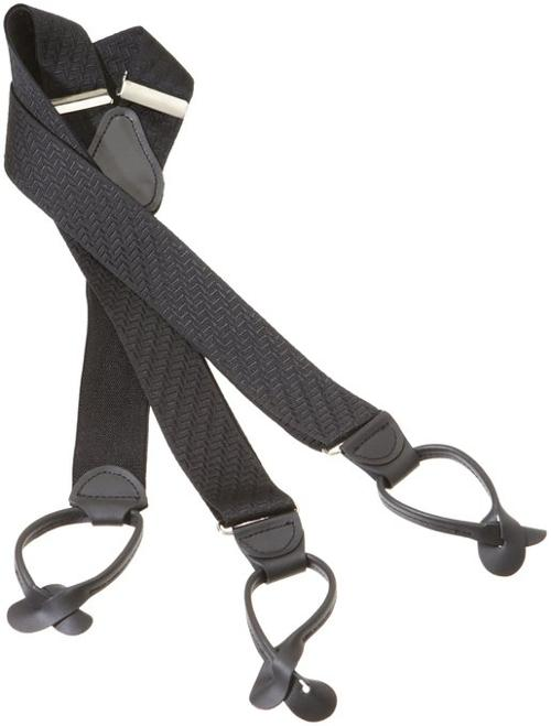 Men's Two Tone Zig Zag Suspender by Geoffrey Beene in Lee Daniels' The Butler