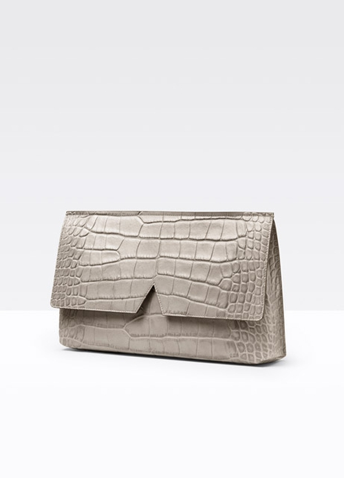 Stamped Croc Medium Clutch Bag by Vince in Empire - Season 2 Episode 1