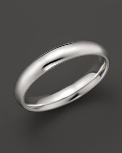 Men's 14K White Gold Comfort Feel Plain Wedding Band by Bloomingdale in That Awkward Moment