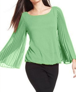 Pleat-Sleeve Blouson Top by Alfani in Jane the Virgin