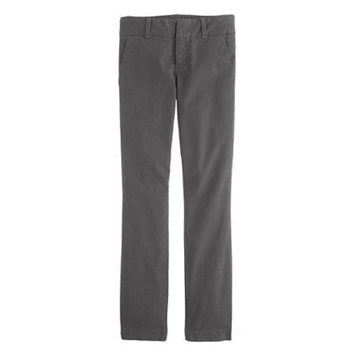 'Andie' Grey Chino Pants by J.Crew in Poltergeist