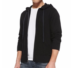Cotton-Knit Zip Hoodie by James Perse in The Flash