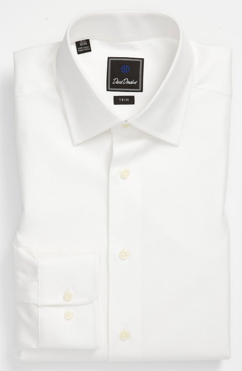 Trim Fit Dress Shirt by David Donahue in Run All Night