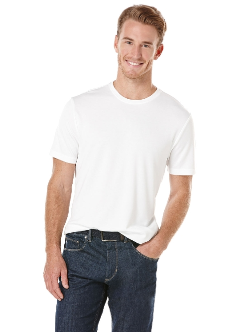 Luxe Crew Neck Tee Shirt by Perry Ellis in The Longest Ride