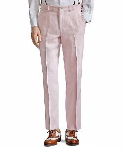 The Great Gatsby Collection Pink Stripe Linen Trousers by Catherine Martin (Costume Designer) and Brooks Brothers (Tailor) in The Great Gatsby